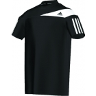 Adidas Boys Response Tee (Black/ White) - Adidas Tennis Apparel