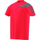 Adidas Boys Response Tee (Red/ Gray) - Boy's Tennis Apparel