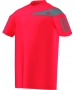 Adidas Boys Response Tee (Red/ Gray) - Boy's Tops Tennis Apparel