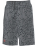 Adidas Boy's Response Trend Bermuda Shorts (Grey/ Black) - Boy's Tennis Apparel