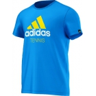 Adidas Men's Spring Tennis Tee (Blue) - Adidas Men's Apparel Tennis Apparel
