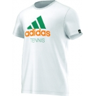 Adidas Men's Spring Tennis Tee (White) - Tennis Apparel