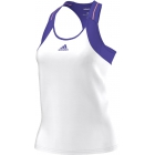 Adidas Women's adiZero Tank (White/Purple) - Women's Tops Tennis Apparel