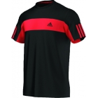 Adidas Men's Galaxy Crew Tee (Black/ Red) - Tennis Apparel