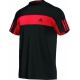 Adidas Men's Galaxy Crew Tee (Black/ Red) - New Style Tennis Apparel