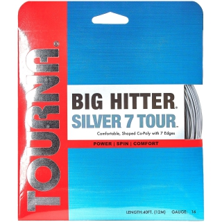 Tourna Big Hitter Silver7 Tour 17g Tennis String (Set)