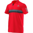 Adidas Men's Barricade Polo (Red) - Adidas Tennis Apparel
