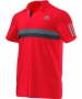Adidas Men's Barricade Polo (Red) - Tennis Online Store
