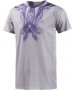 Adidas Mens Adizero Tee (Grey/Night Flash) - Men's Tops T-Shirts & Crew Necks Tennis Apparel