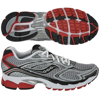 Saucony Men's ProGrid Guide 4 (Sil/ Blk/ Red)