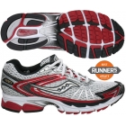 Saucony Men's ProGrid Ride 4 (Wht/ Red/ Blk) - Saucony