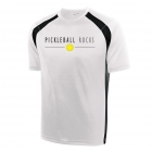 Pickleball Rocks Men's Performance Dri Fit Tee (White/Black) - Tennis Court Equipment