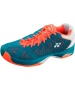 Yonex Men's Power Cushion Fusion Rev Tennis Shoes (Blue/ Orange) - Durable Tennis Shoes