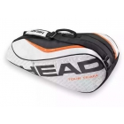 Head Tour Team 6 Pk Combi Tennis Bag (Silver/Black) - 6 Racquet Tennis Bags