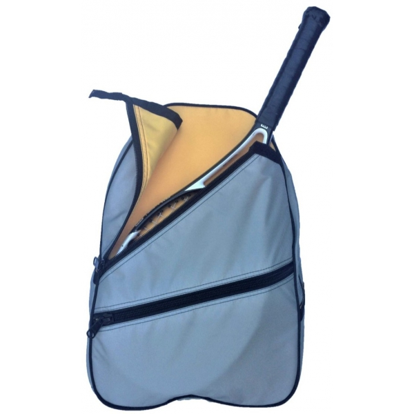 Maggie Mather Tennis Backpack (Silver Dust/Saffron)