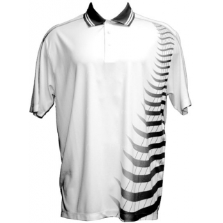 Skins Game Mens Bamboo/ Polyester Zig Zag Polo (Charcoal)