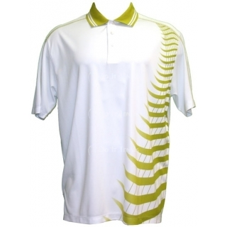 Skins Game Mens Bamboo/ Polyester Zig Zag Polo (Gold)