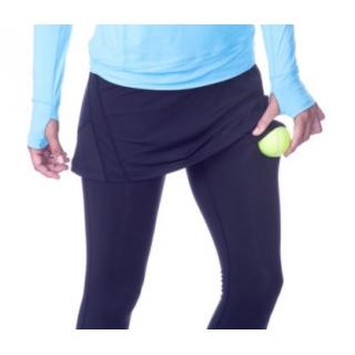 amante puerta acoplador  Bloq-UV Tennis Skirt with Leggings (Black) - Do It Tennis