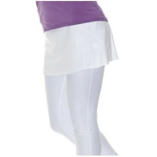 Meseta cáncer Disfraces  Bloq-UV Tennis Skirt with Leggings (White) - Do It Tennis