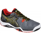 Asics Men's Gel Resolution 6 Tennis Shoes (Castlerock/Black/Gold) - Asics Tennis Shoes