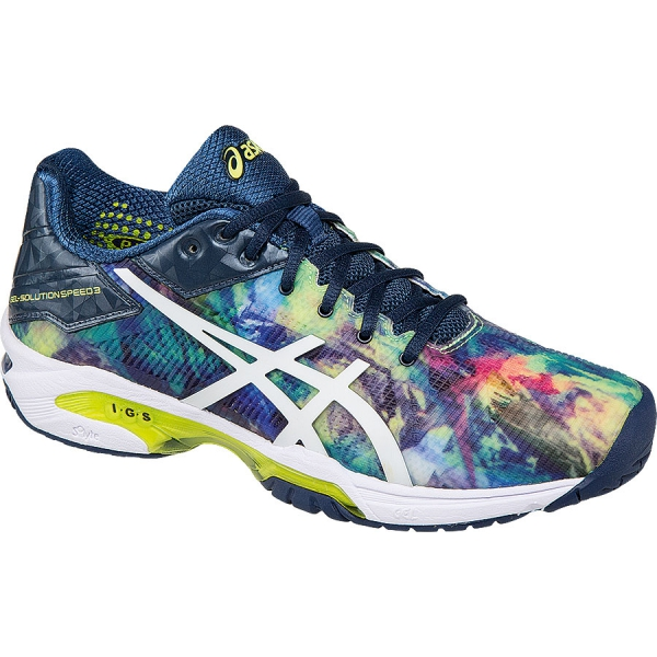 Asics Women's GEL-Solution Speed 3 Tennis Shoes (Blue/White/Rose)