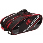 Solinco Tour 12 Pack Tennis Bag (Red/Black) - 7 Racquet Tennis Bags