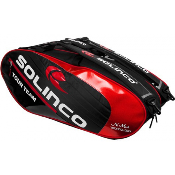 Solinco Tour 6 Pack Tennis Bag (Red/Black)