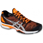 Asics Men's GEL-Solution Speed Tennis Shoes (Blk/ Org/ Sil) - Asics Tennis Shoes