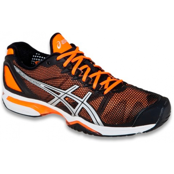 Asics Men's GEL-Solution Speed Tennis Shoes (Blk/ Org/ Sil)
