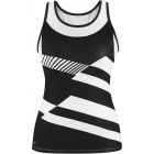 DUC Sonar Women's Printed Racer Tank (Black) - DUC Team Tennis Apparel