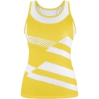 DUC Sonar Women's Printed Racer Tank (Gold) - Women's Tops Sleeveless Shirts Tennis Apparel