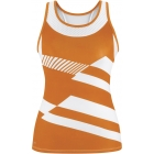DUC Sonar Women's Printed Racer Tank (Orange) - Women's Tops Sleeveless Shirts Tennis Apparel