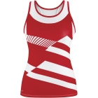 DUC Sonar Women's Printed Racer Tank (Red) - DUC Women's Apparel Tennis Apparel
