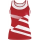 DUC Sonar Women's Printed Racer Tank (Red) - Duc Sale Items