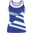 DUC Sonar Women's Printed Racer Tank (Royal) - DUC Women's Apparel Tennis Apparel