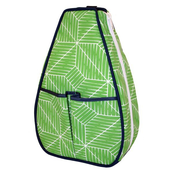 40 Love Courture Green Grid Sophi Tennis Backpack