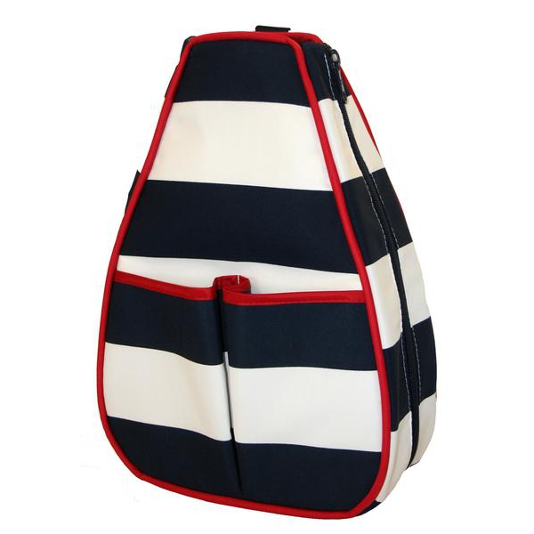 40 Love Courture Sailor Stripe Navy Sophi Tennis Backpack