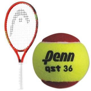 HEAD Speed Junior Tennis Racquet, Penn QST 36 Red Felt Tennis Balls
