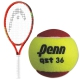 HEAD Speed Junior Tennis Racquet, Penn QST 36 Red Felt Tennis Balls - Junior Bundle Packs