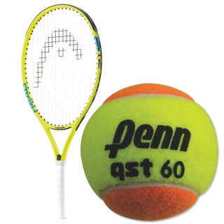 HEAD Speed Junior Tennis Racquet, Penn QST 60 Orange Tennis Balls