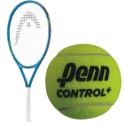 HEAD Speed Junior Tennis Racquet, Penn Control+ Green Dot Tennis Balls - Head Junior Tennis