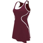 SSI Women's Sophia Racer Back Team Tennis Dress (Burgundy/White) - SSI Apparel