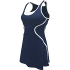 SSI Women's Sophia Racer Back Team Tennis Dress (Navy/White) - SSI Apparel