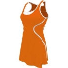SSI Women's Sophia Racer Back Team Tennis Dress (Orange/White) - SSI Apparel