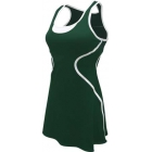 SSI Women's Sophia Racer Back Team Tennis Dress (Pine/White) - SSI Apparel