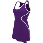 SSI Women's Sophia Racer Back Team Tennis Dress (Purple/White) - SSI Apparel