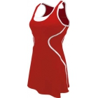 SSI Women's Sophia Racer Back Team Tennis Dress (Red/White) - SSI Apparel