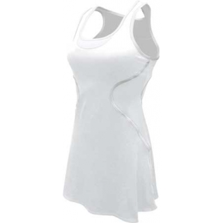 SSI Women's Sophia Racer Back Team Tennis Dress (White/White)