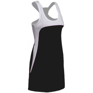 SSI Women's Amy Racer Back Tennis Dress (White/ Black)