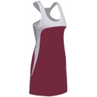 SSI Women's Amy Racer Back Tennis Dress (White/ Burgundy) - SSI